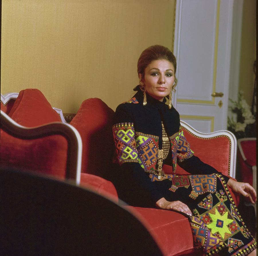 Empress Farah Pahlavi Of Iran Photograph by Henry Clarke