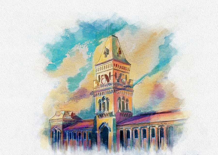 Empress Market Karachi Painting By Catf