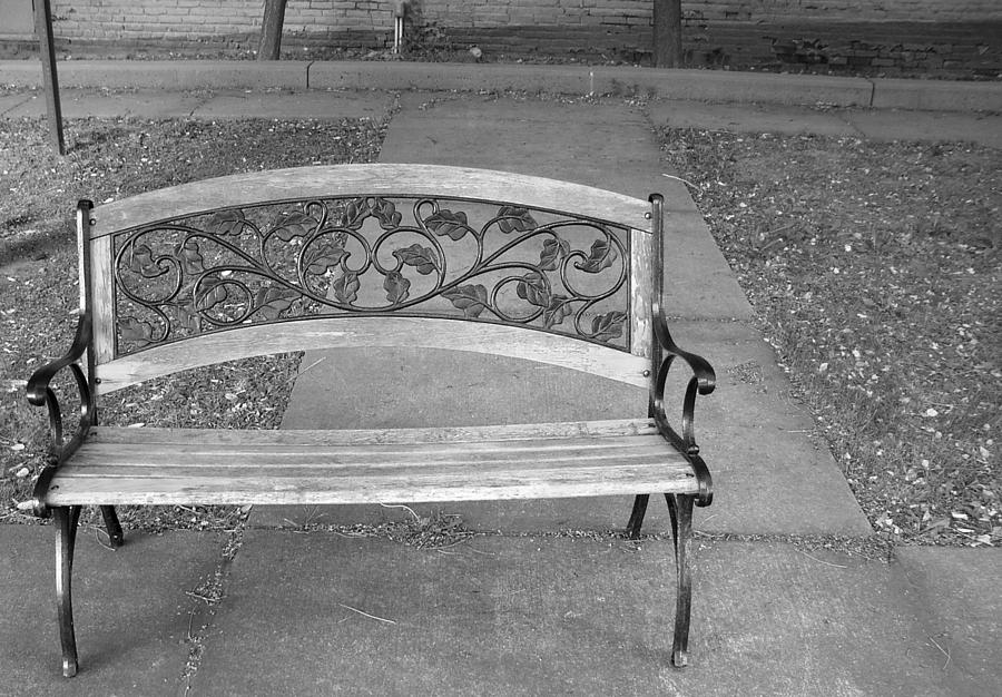 Bench Photograph - Empty Bench by Stephanie Grooms