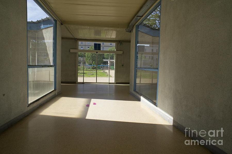Direction Photograph - Empty Corridor At Public Hospital by Sami Sarkis