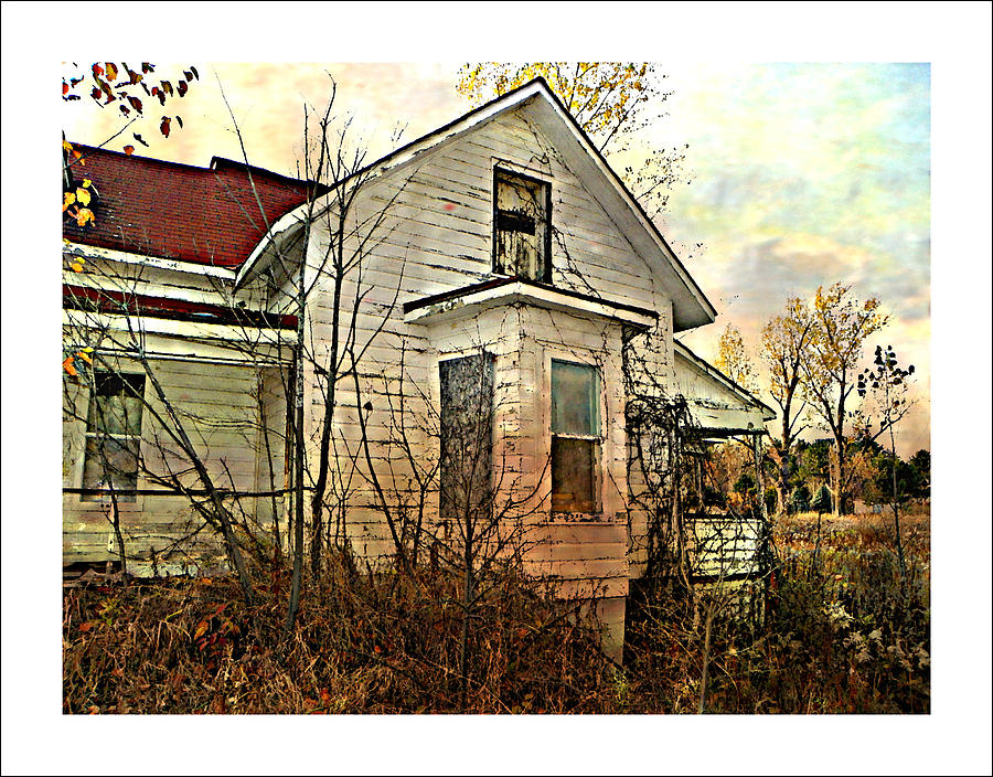 House Abandoned Empty Broken Ruins Rundown Overgrown Weeds Grass  Photograph - Empty Dreams  by Dianne  Lacourciere
