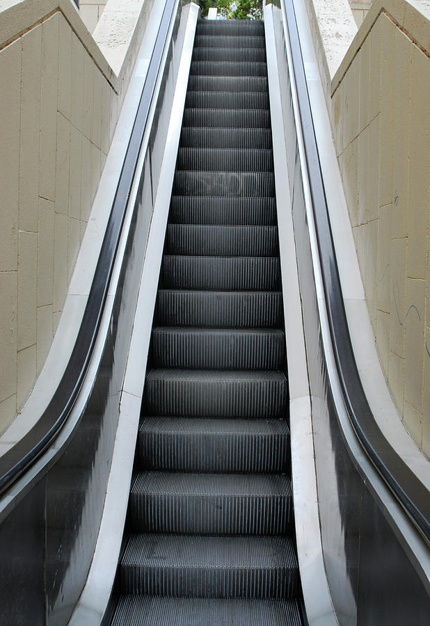 Empty Escalator Photograph by Lyn Holly Coorg
