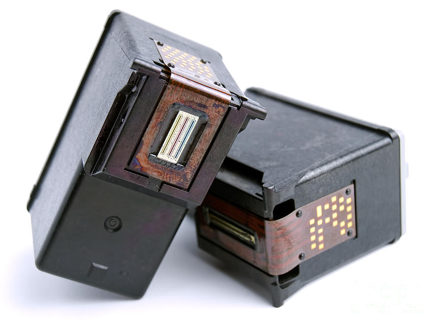 Ink Photograph - Empty Ink Cartridges by Sinisa Botas