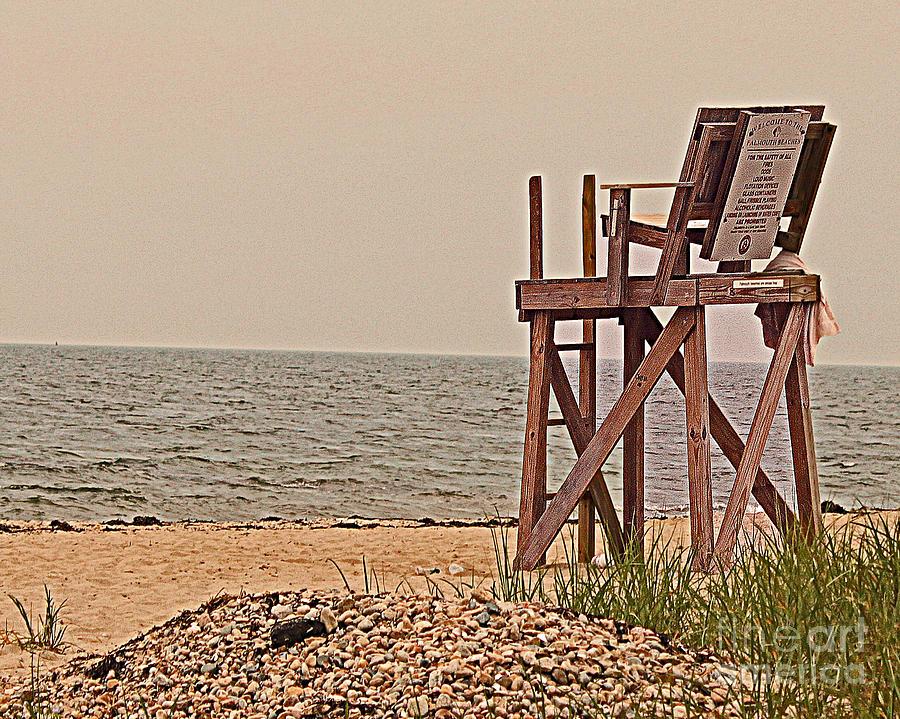 Lifeguard Photograph - Empty Lifeguard Chair by Rita Brown