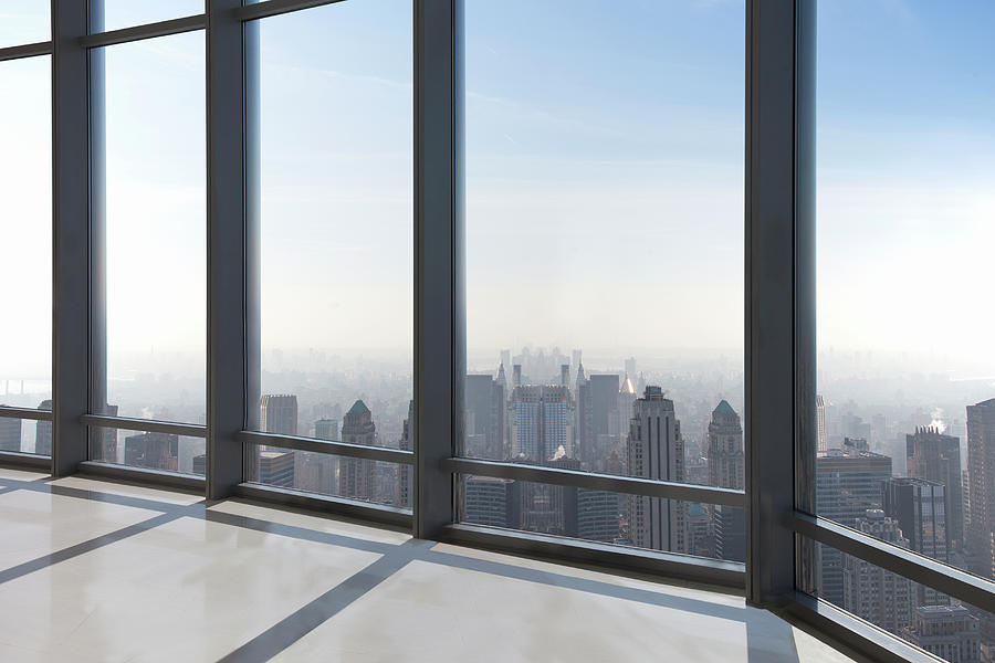 Empty Office Overlooking A City Photograph by Buena Vista Images