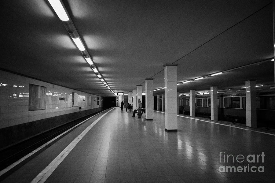 Berlin Photograph - empty Potsdamer Platz s-bahn station Berlin Germany by Joe Fox