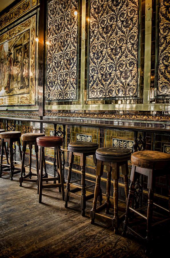 Barstools Photograph - Empty Pub by Heather Applegate