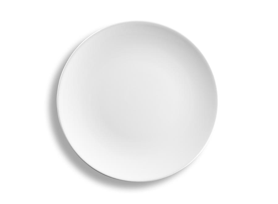 Empty round dinner plate isolated on white background, clipping path Photograph by Domin_domin
