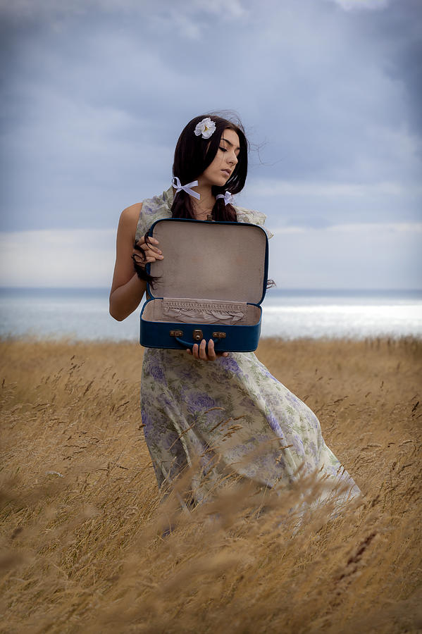 Girl Photograph - Empty Suitcase by Joana Kruse