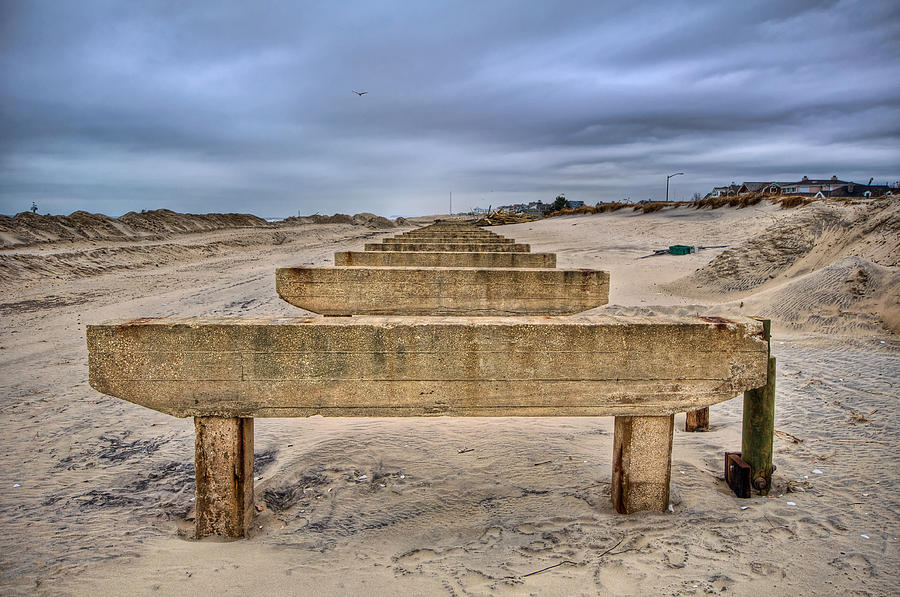 Beach Photograph - Empty Support by Mike Horvath