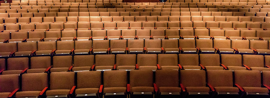 Horizontal Photograph - Empty Theater Chairs In Ventura Arts by Panoramic Images