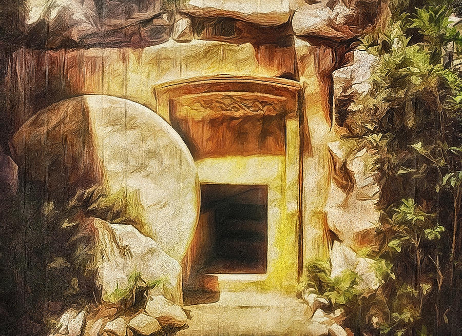 Jesus Painting   Empty Tomb By Gynt Art