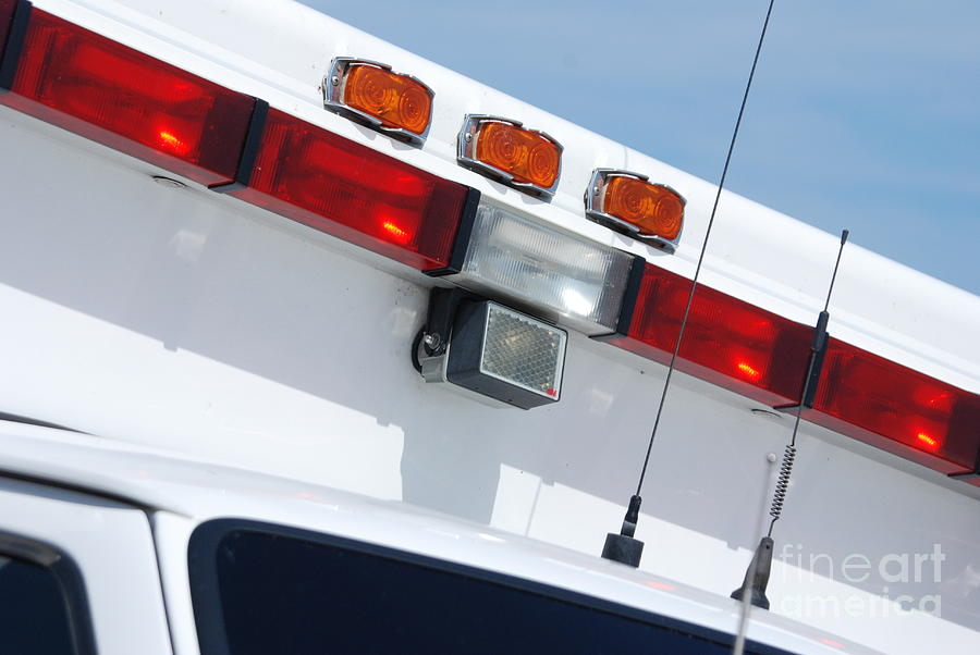 Ambulance Photograph - Ems Lightbar by Steven Townsend
