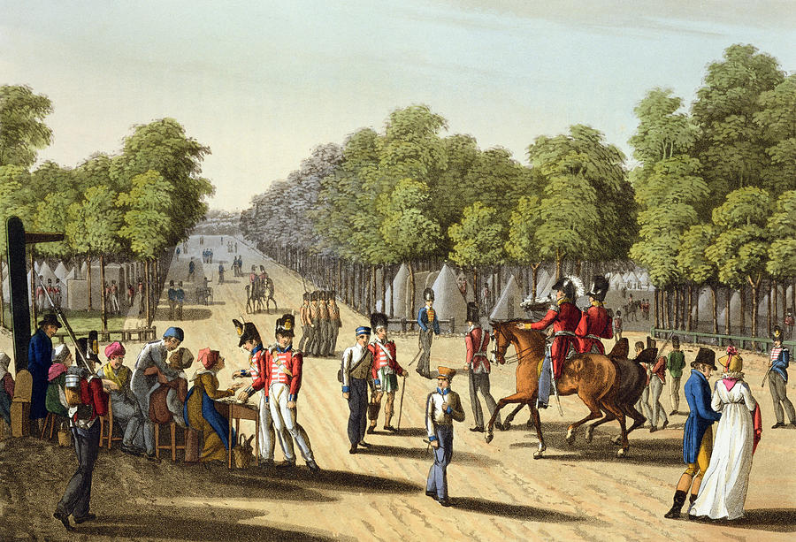 Park Drawing - Encampment Of The British Army by Franz Joseph Manskirch
