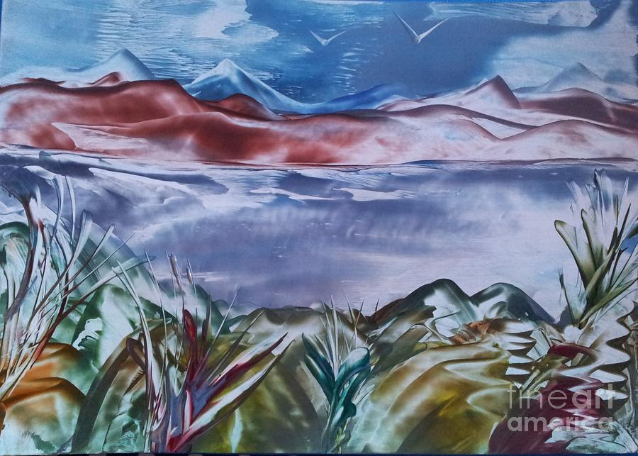 Seascape Painting - Encaustic Art 2 by Debra Piro