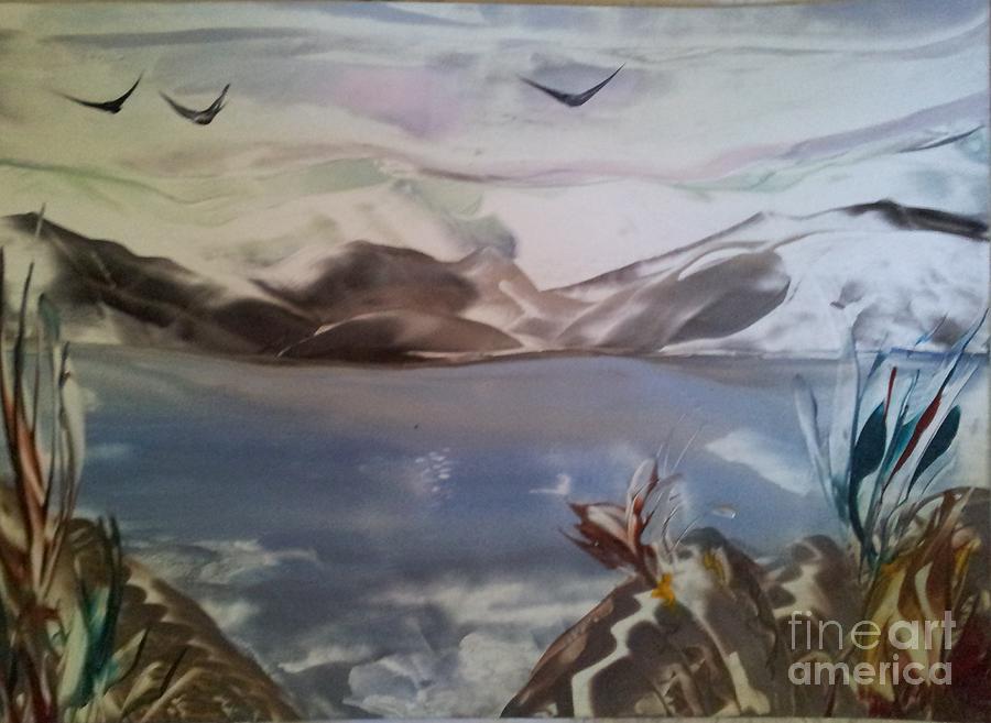 Seacsape Painting - Encaustic Art by Debra Piro
