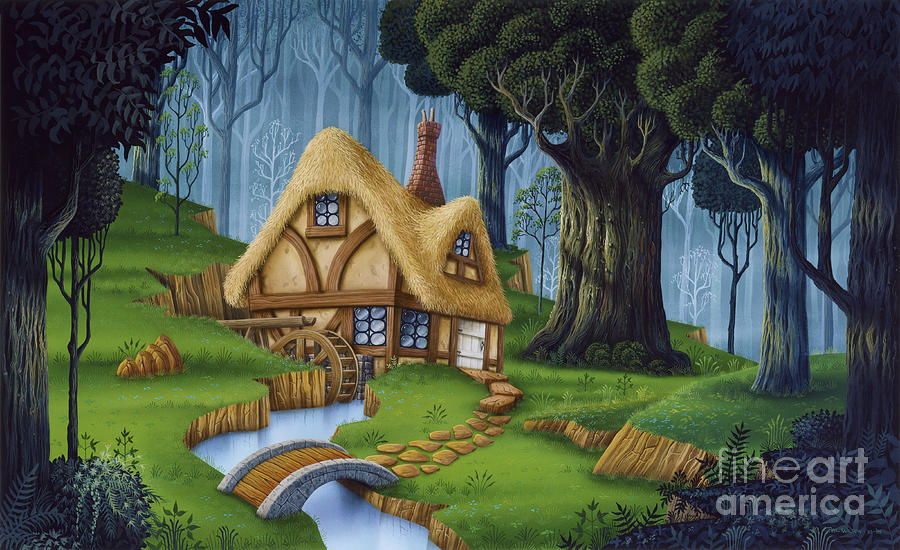 Enchanted Cottage Painting By Phil Wilson