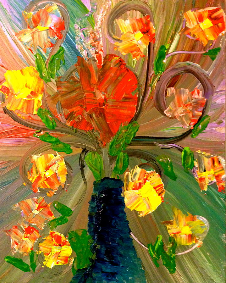Flowers Painting - Enchanted Flowers. by Pretchill Smith