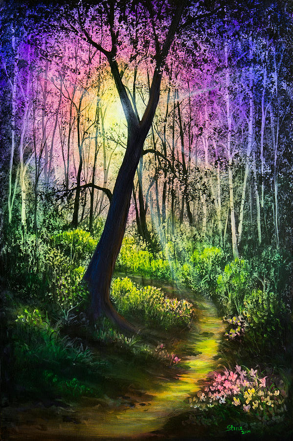 Enchanted Painting - Enchanted Forest by Chris Steele