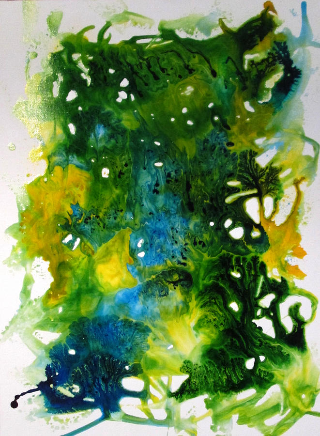 Glossy Painting - Enchanted Forest by Mary Kay Holladay