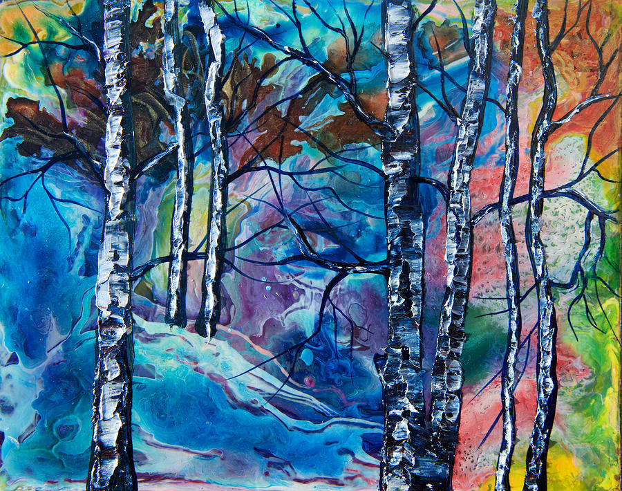 Enchanted Forest Painting By Olena Art Lena Owens