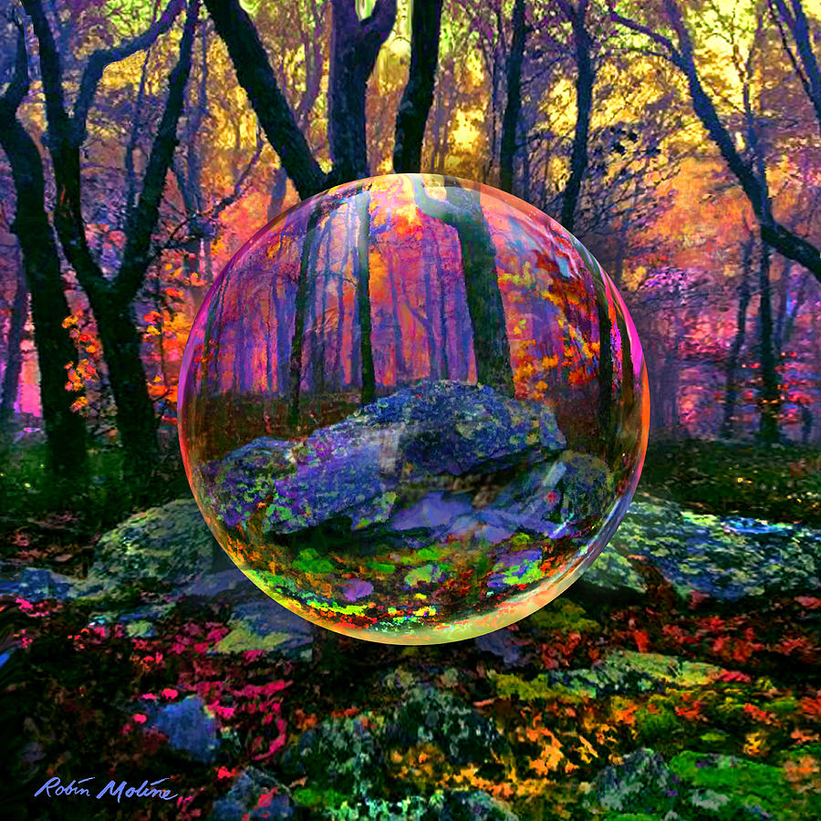 Enchanted Forest Painting By Robin Moline