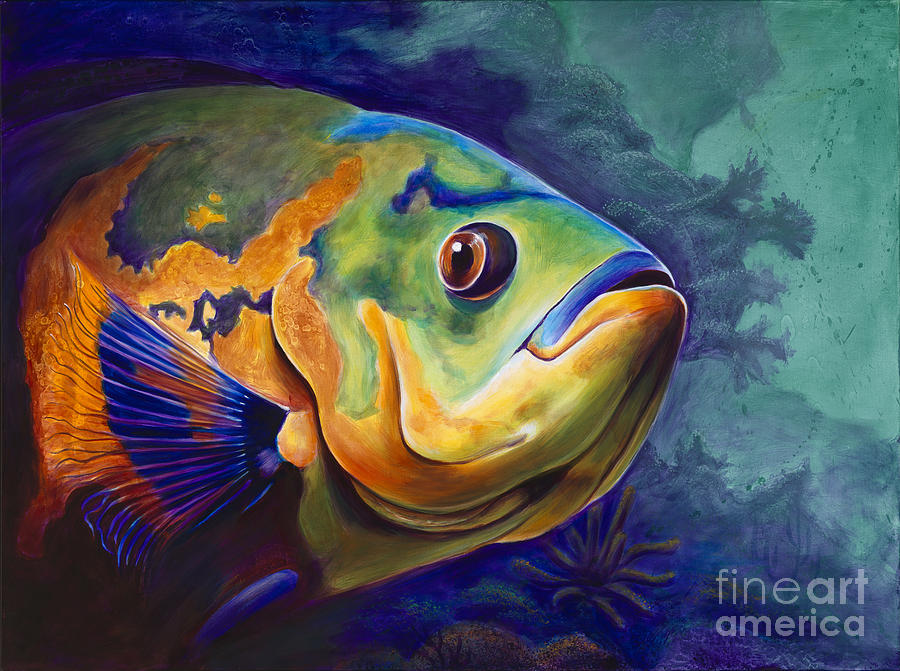 Enchanted reef painting by scott spillman for Sea life paintings artists
