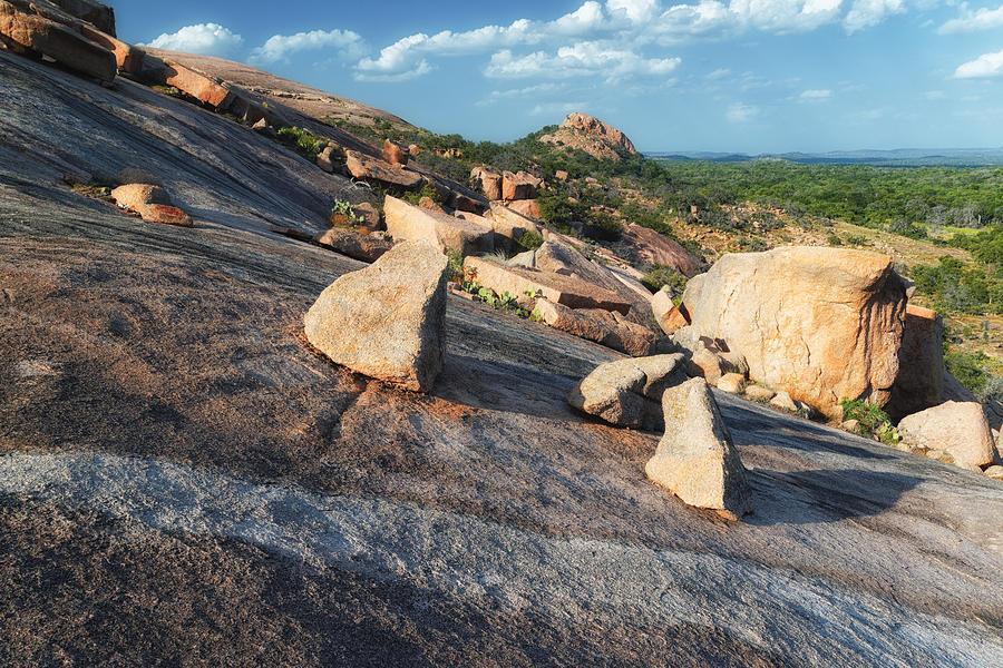Enchanted Rock Photograph - Enchanted Rock Texas Hill Country Natural Arrangement Of Sliding Boulders At Enchanted Rock by Silvio Ligutti