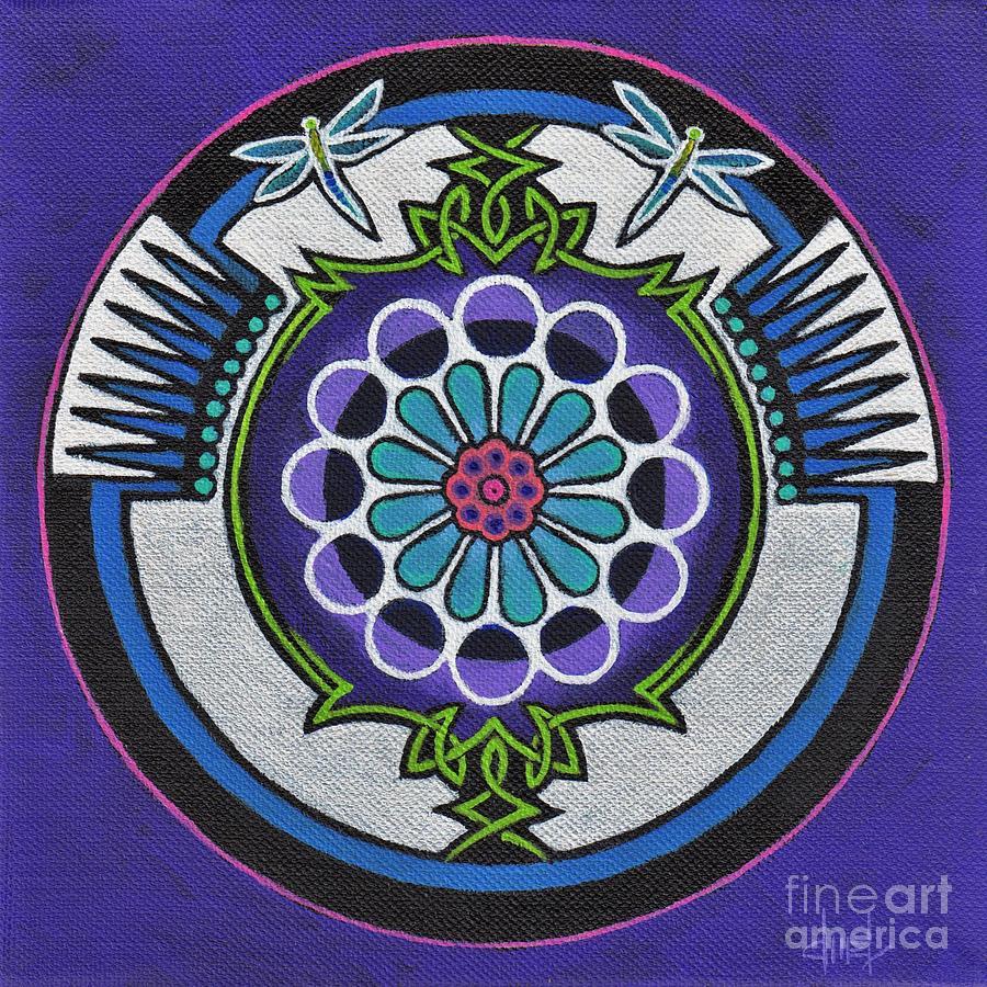 Mandala Painting - Enchanted - Sold by David Mel
