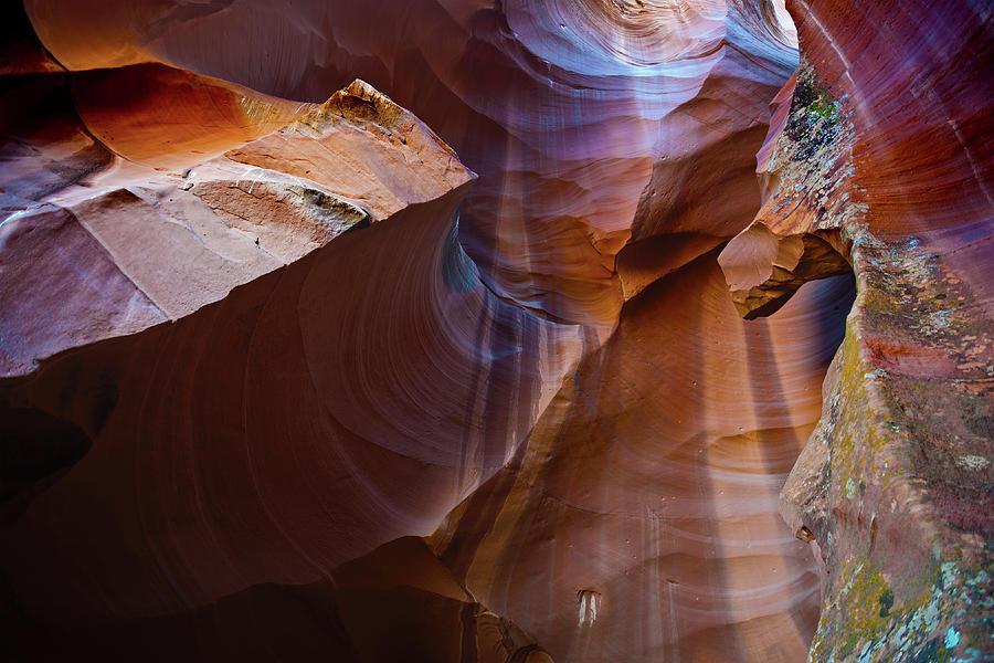 Enchanting Antelope Canyon With Lichen Photograph by Pavliha