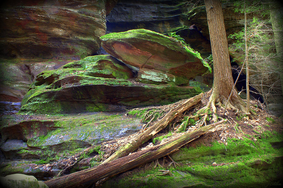 Rock House Hocking Hills Photograph - Enchanting by J Allen