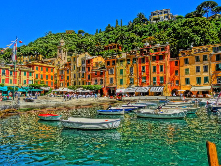 Portofino Painting Photograph - Enchanting Portofino In Ligure Italy IIi by M Bleichner