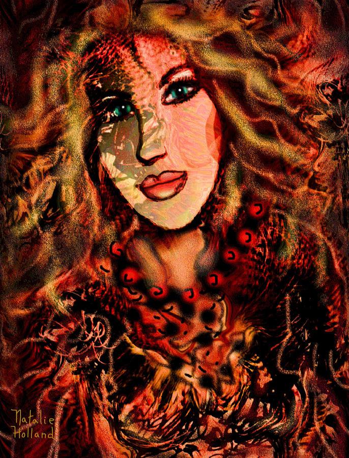 Woman Mixed Media - Enchanting Woman by Natalie Holland