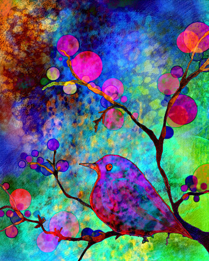 Bird Painting - Enchantment by Robin Mead