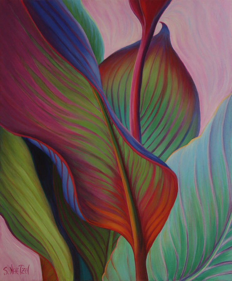 Cannas Painting - Encore by Sandi Whetzel