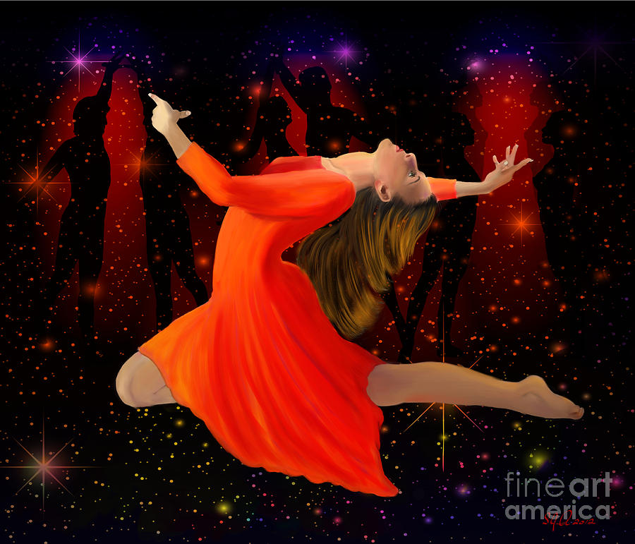 Attractive Painting - Encore by Sydne Archambault