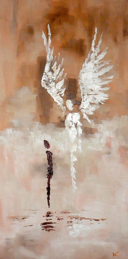 Angels Painting - Encounter by Andi Oakes