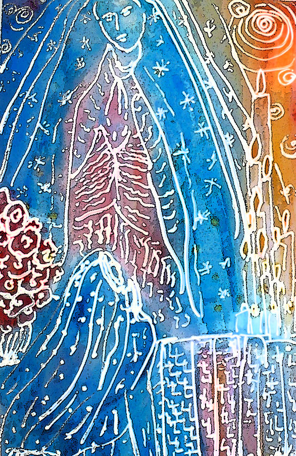 Virgin Of Guadalupe Painting - Encounter by Tolere