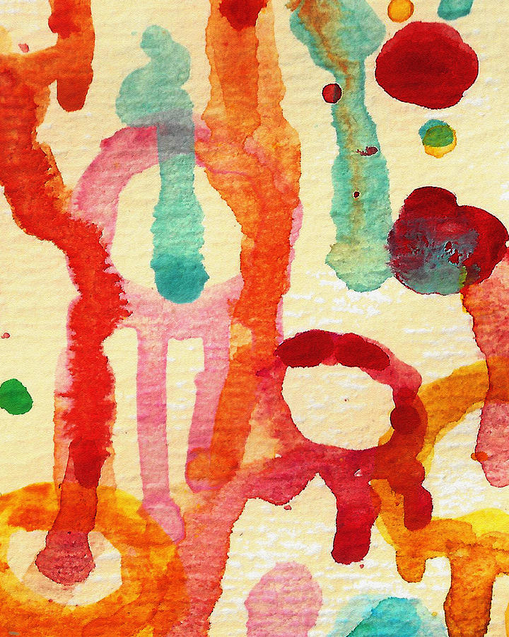 Abstract Painting - Encounters 5 by Amy Vangsgard