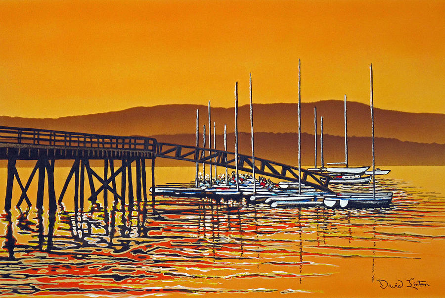 Rockport Painting - Encounters With Color by David Linton