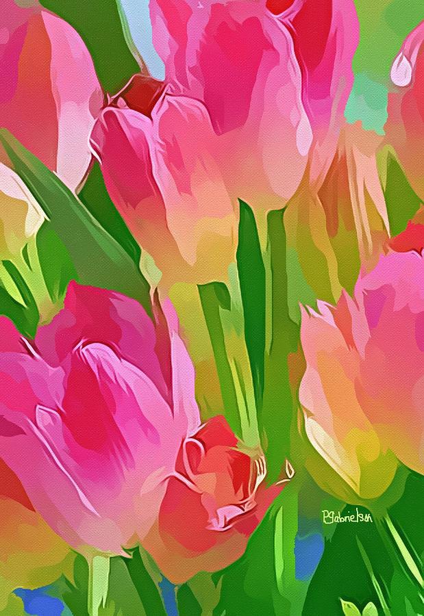 Tulips Digital Art - Encouragement by Peggy Gabrielson
