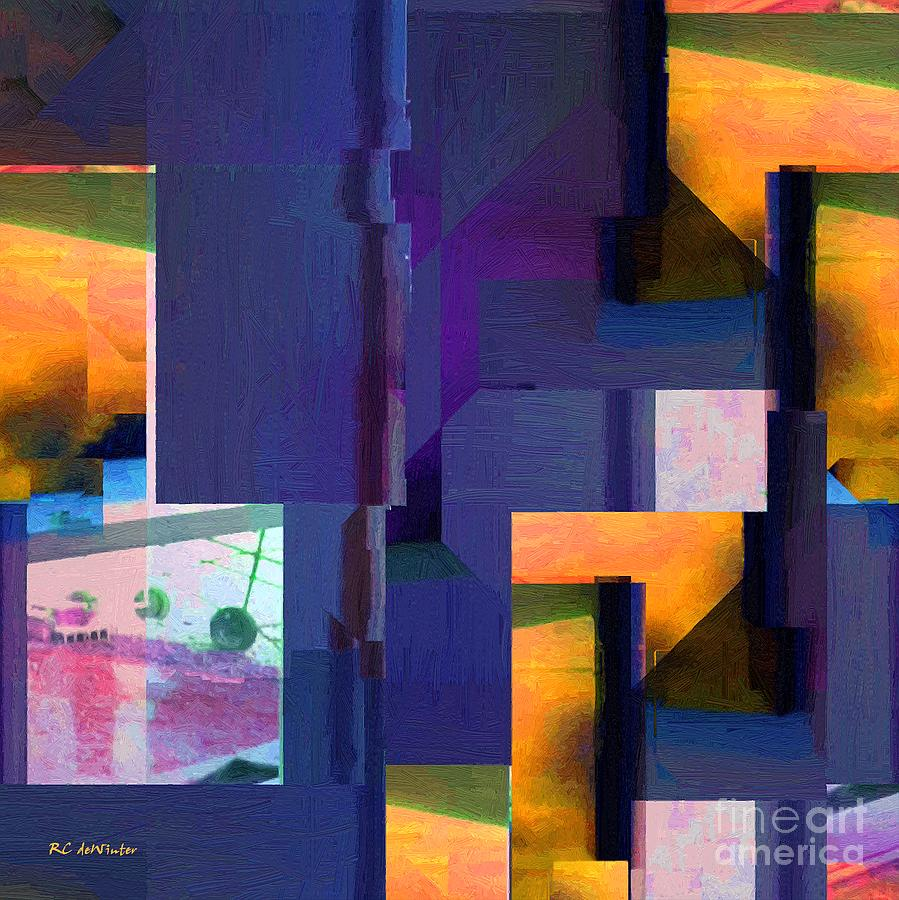 Abstract Painting - Encroachment by RC DeWinter