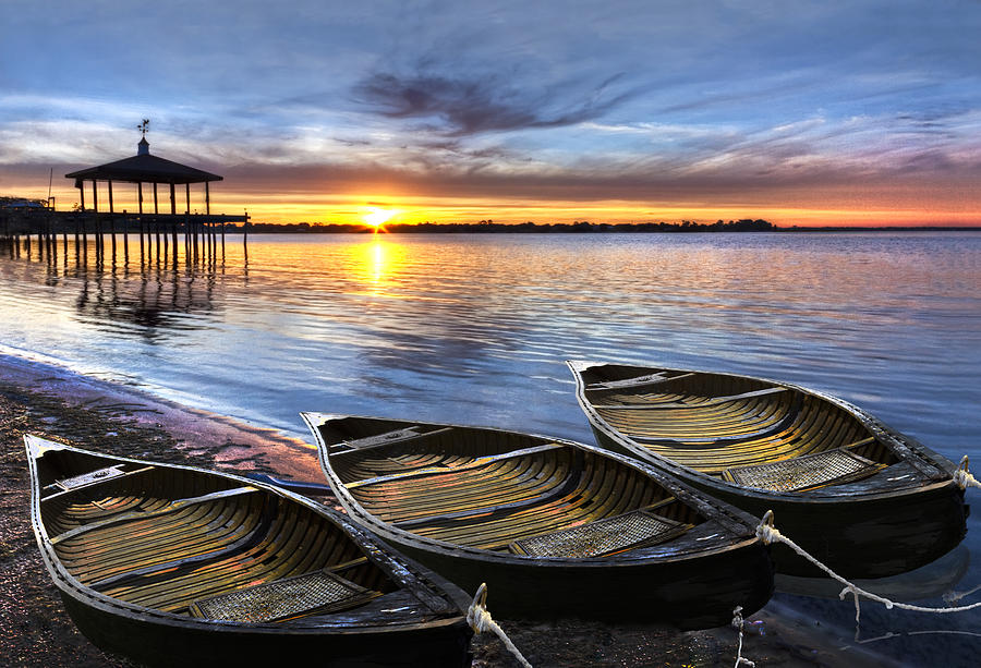 Boats Photograph - End Of The Day by Debra and Dave Vanderlaan