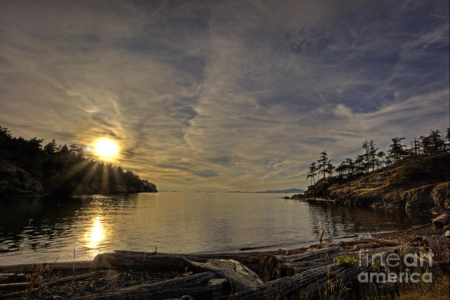 Sunset Photograph - End Of The Day by Inge Riis McDonald