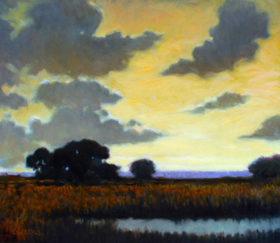 Landscape Painting - End Of The Day by Kevin Lawrence Leveque