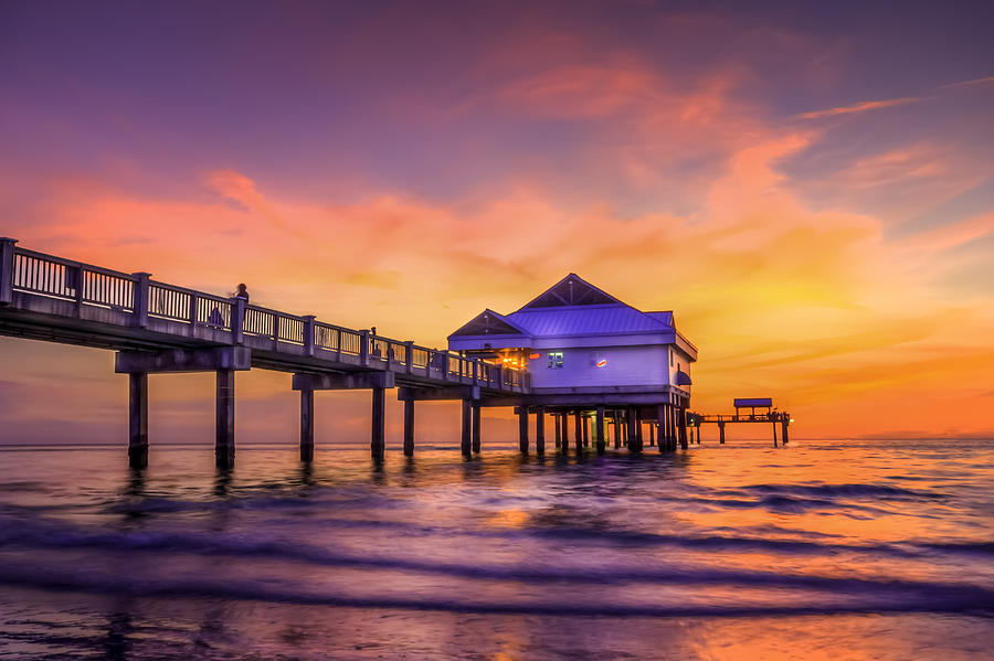 Clearwater Pier Photograph - End Of The Day by Marvin Spates