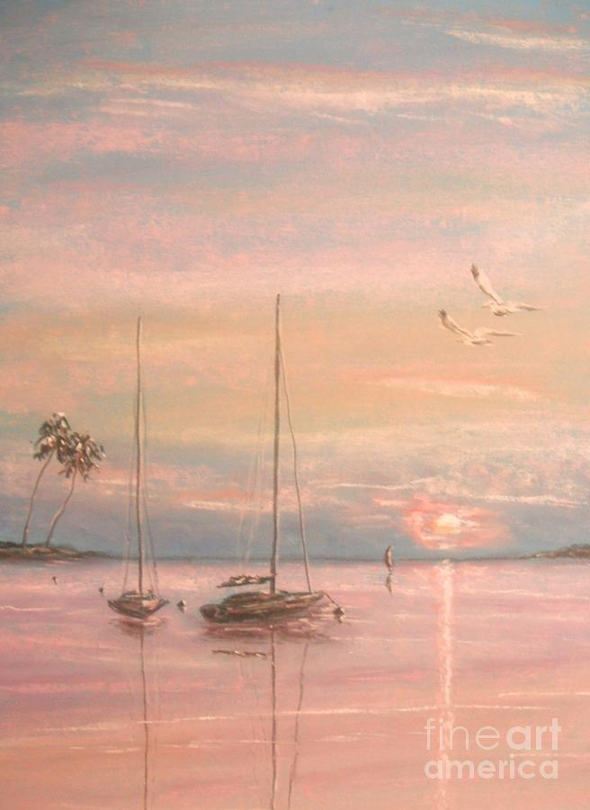 Tropical Painting - End Of The Day by The Beach  Dreamer