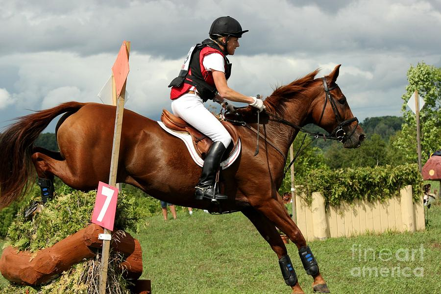 Horse Photograph - End Of The Jump by Janice Byer