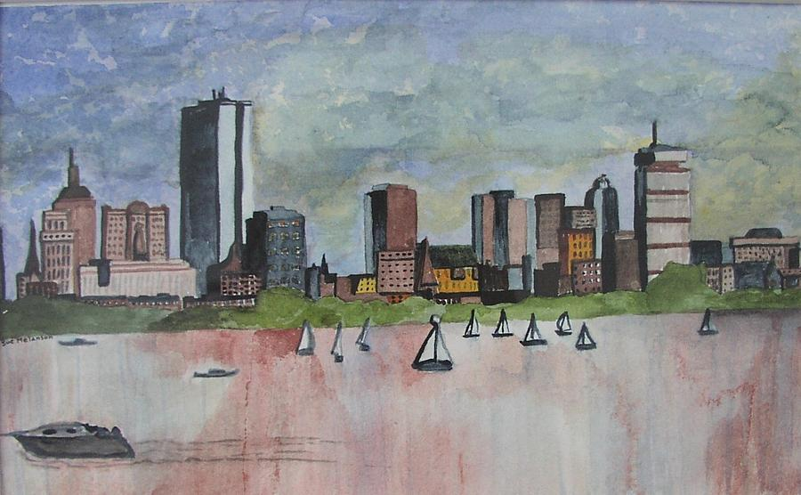 Boston Painting - End Of The Workday by Sue Melanson