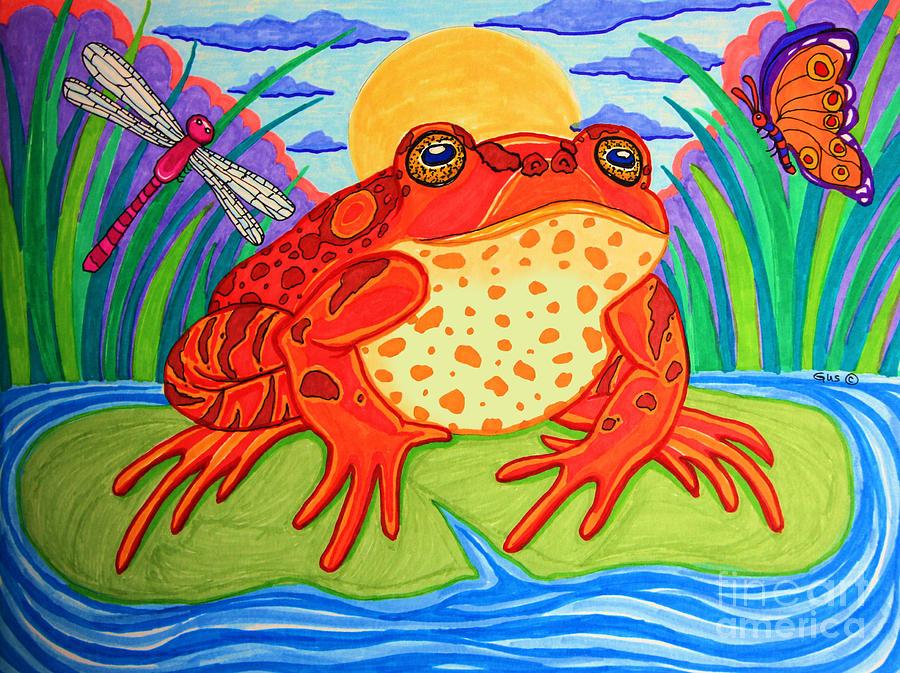 Endangered Red Legged Frog Drawing